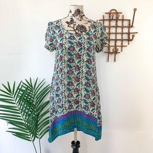 Anthropologie Tolani Floral 100% Silk Dress